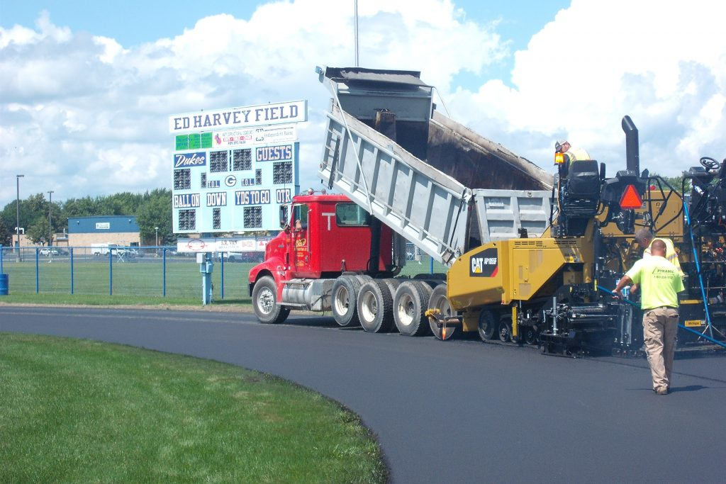 Paving of the Garber High School Track in Essexville, MI