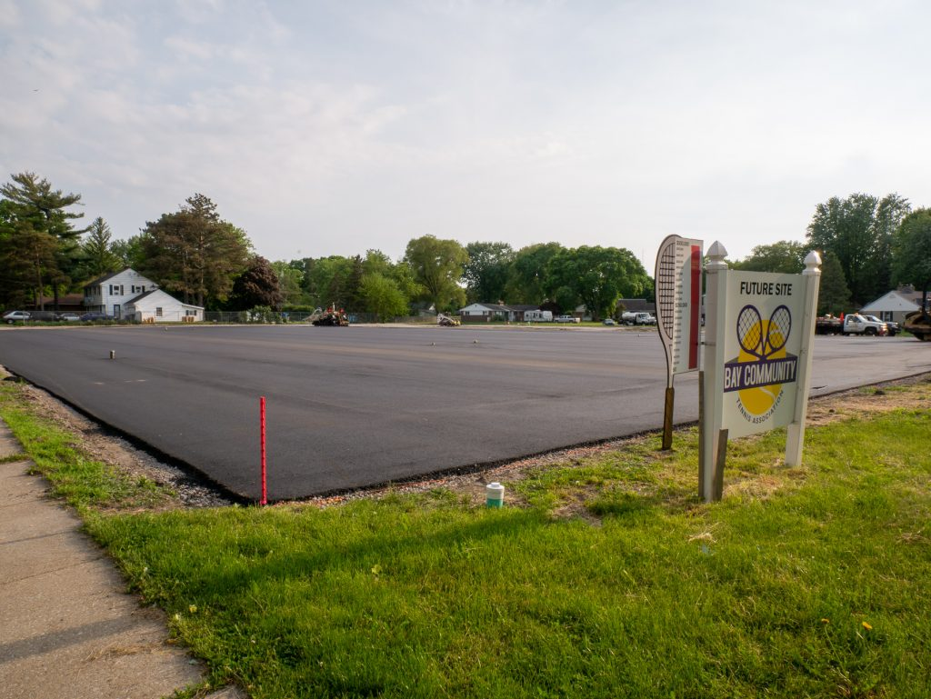 Paving at Bay County Tennis Association