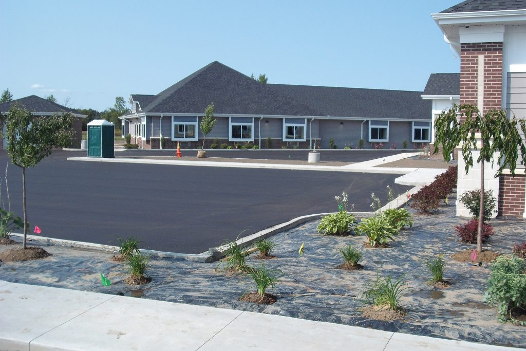 Comfort Care Senior Living Parking Lot in Saginaw, MI
