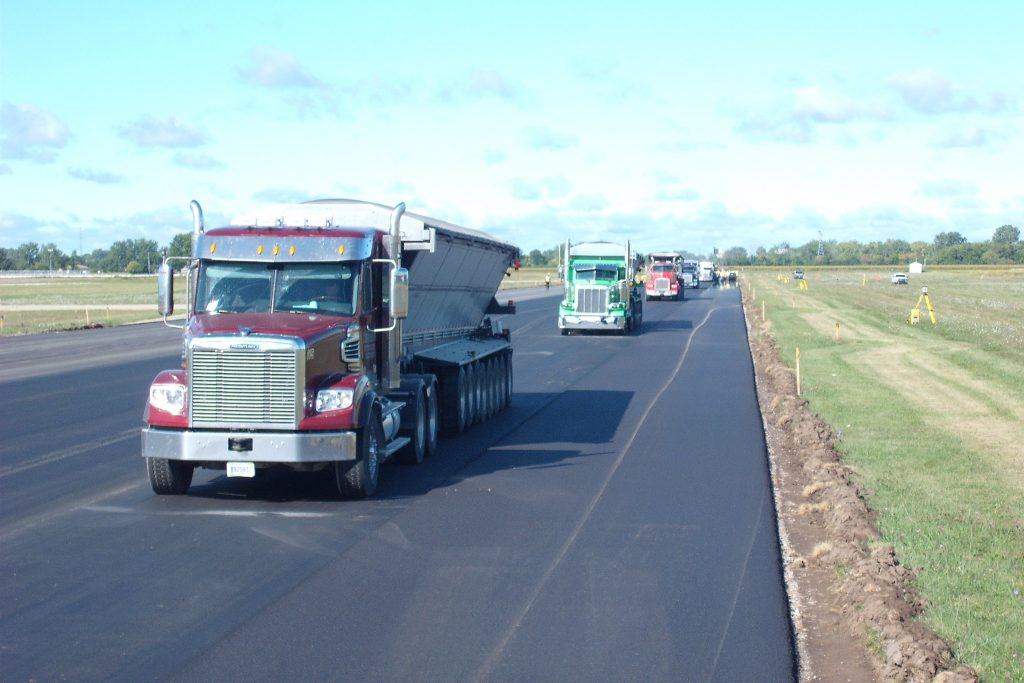 Paving of the Harry Browne Airport in Saginaw County, MI